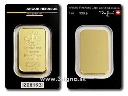 Argor Heraeus 1 Oz Gold Bar Gold Bars 187 Perth Mint