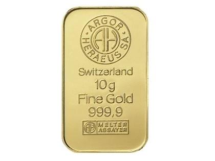 Argor Heraeus 10g Gold Bar Gold Bars 187 Argor Heraeus