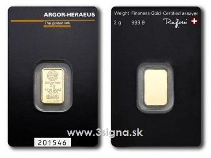 Argor Heraeus 2g Gold Bar Gold Bars 187 Argor Heraeus