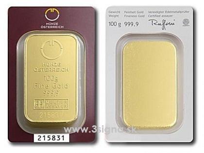 Münze österreich 100g Gold Bar Gold Bars Münze österreich 3signa