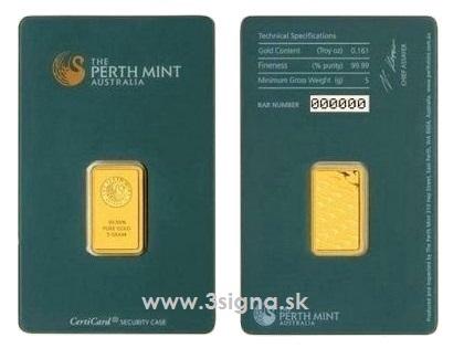 Perth Mint 5g Gold Bar Gold Bars Münze österreich 3signa