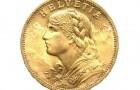 20 Frank Helvetia (Vreneli) - Zlatá mince