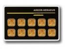 Argor Heraeus Multicard 10 x 1g - Zlatý zliatok