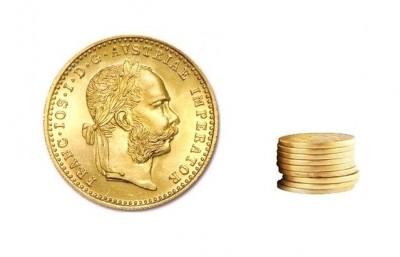 1 Dukát Österreich - Zlatá mince - 10 ks
