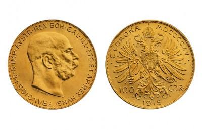 100 korún - František Jozef - Zlatá minca