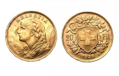 20 Frank Helvetia (Vreneli) - Zlatá minca