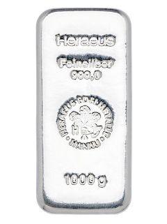 Argor Heraeus / Heraeus / Valcambi  1 kilo - Strieborný zliatok