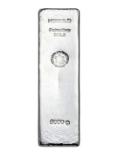Argor Heraeus / Heraeus 5 kilo - Stříbný slitek