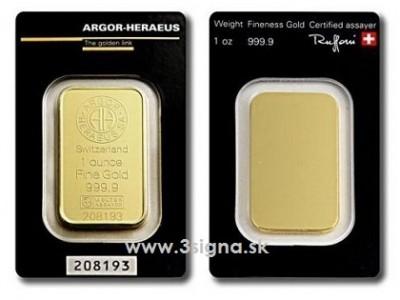 Argor Heraeus 1 Oz - Zlatý slitek
