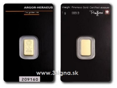 Argor Heraeus 1g - Zlatý zliatok