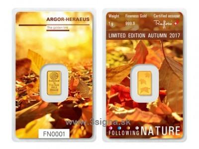 Argor Heraeus 1g Autumn - Zlatý slitek