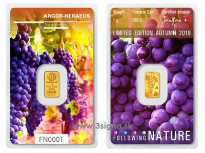 Argor Heraeus 1g Autumn 2018 - Gold Bar
