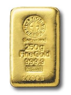 Argor Heraeus 250g - Zlatý slitek
