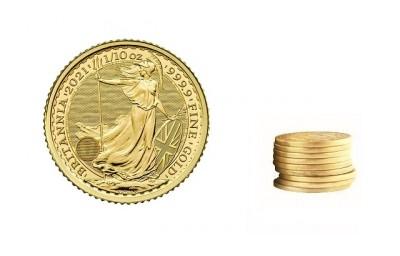 Britannia 1/10 Oz - Zlatá minca - 10 ks