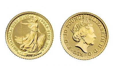 Britannia 1/10 Oz - Zlatá mince