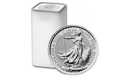 Britannia 1/4 Oz - Stříbrná mince - 19 ks