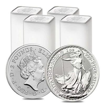 Britannia 1 Oz - Stříbrná mince - 100 ks