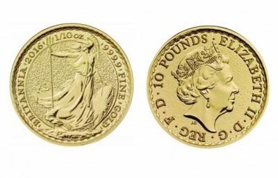 Britannia 2016 1/10 Oz - Zlatá mince