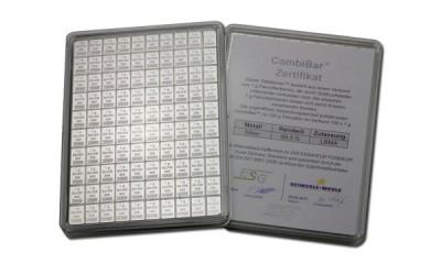 CombiBar - Stříbrný slitek 100 x 1g