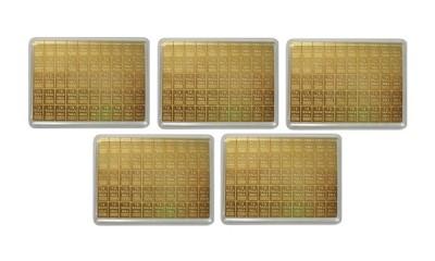 CombiBar 50 x 1g - Zlatý zliatok - 5 ks