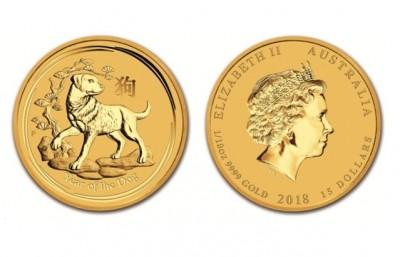 Dog 2018 1/10 Oz - Zlatá mince