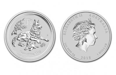 Dog 2018 1 Oz - Strieborná minca