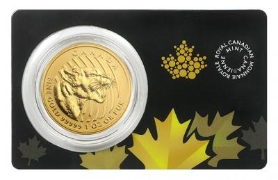 Growling Cougar 2015 1 Oz - Zlatá mince