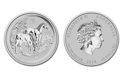 Horse 2014 1 kilo - Stříbrná mince