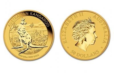 Kangaroo 1/2 Oz - Zlatá mince