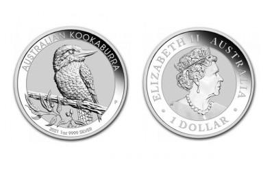 Kookaburra 2021 1 Oz - Stříbrná mince