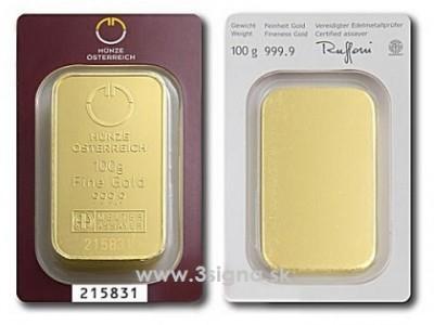 Münze Österreich 100g - Zlatý slitek