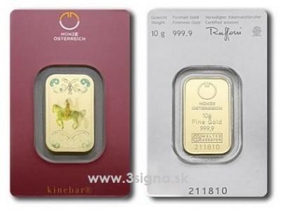 Münze Österreich 10g - Zlatý slitek