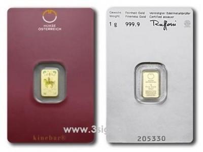 Münze Österreich 1g - Zlatý slitek