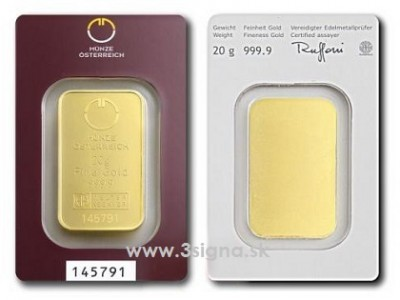 Münze Österreich 20g - Zlatý slitek