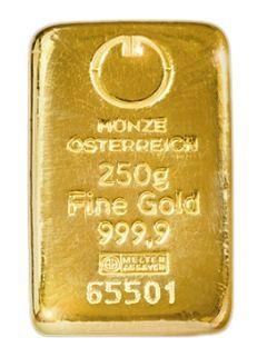Münze Österreich 250g - Zlatý slitek