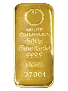 Münze Österreich 500g - Zlatý slitek