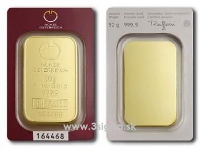 Münze Österreich 50g - Zlatý slitek