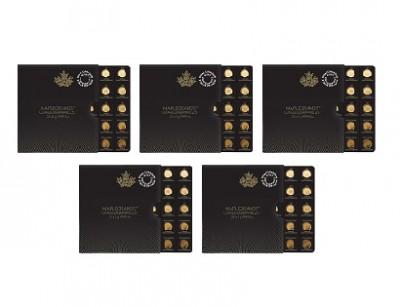 Maplegram25™ -  Zlatá mince 25 x 1g - 5ks
