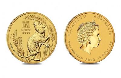 Mouse 2020 1/10 Oz - Zlatá minca