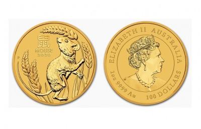 Mouse 2020 1 Oz - Zlatá minca