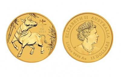 Ox 2021 1/10 Oz - Zlatá minca