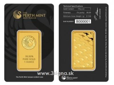 Perth Mint 1 Oz - Zlatý slitek