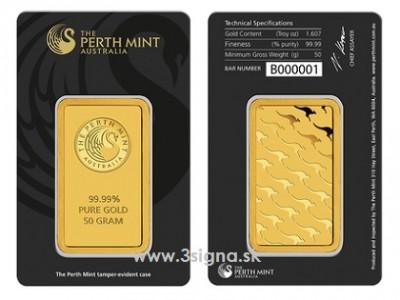 Perth Mint 50g - Zlatý slitek