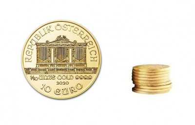 Philharmoniker 1/10 Oz - Zlatá mince  - 10 ks