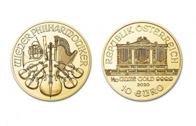 Philharmoniker 1/10 Oz - Zlatá mince