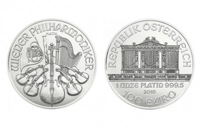 Philharmoniker 2016 1 Oz - Platinová minca