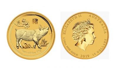 Pig 2019 1/10 Oz - Zlatá minca