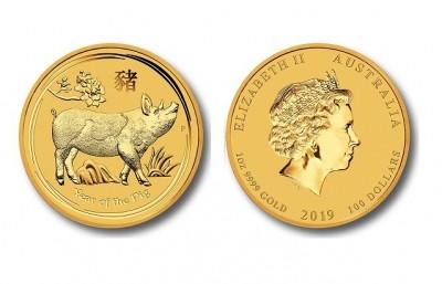 Pig 2019 1 Oz - Gold Coin