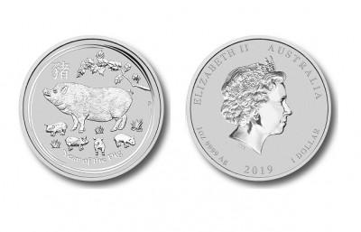 Pig 2019 1 Oz - Silver Coin