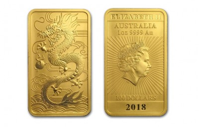 Rectangular Dragon 1 Oz - Zlatá mince